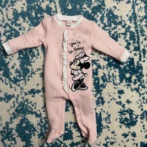 Disney mini mouse onsie sleeper pajama